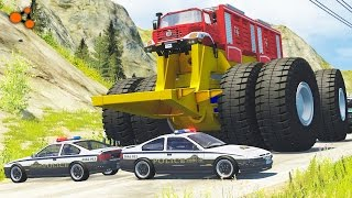 Beamng drive - Giants Machines Crushes Cars #2