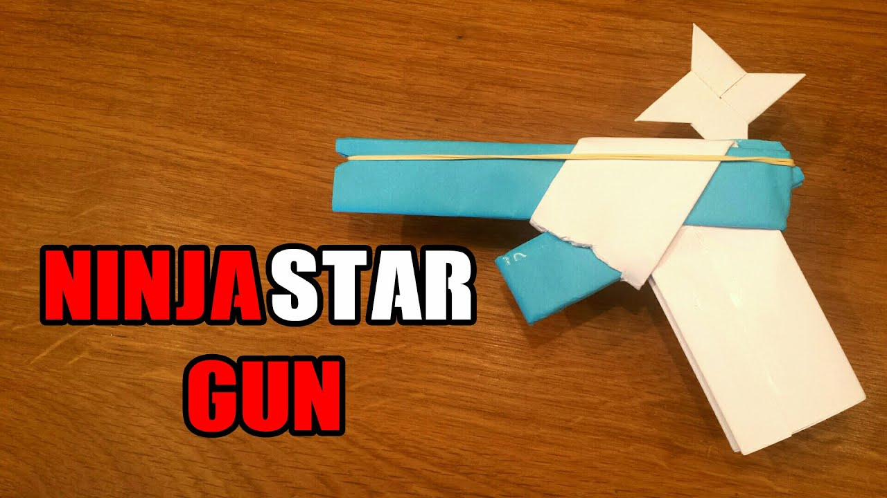 How To Make a Paper Gun That Shoots Ninja Stars - With ... - photo#13