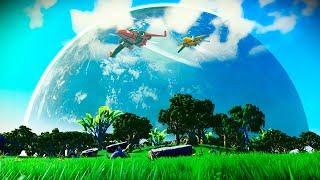 WOW....WE FOUND HEAVENLY GREEN MOON    No Man's Sky Ep. 53 [Galactic Hub Adventures]