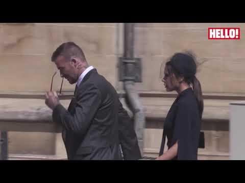 David And Victoria Beckham Arrive At The Royal Wedding