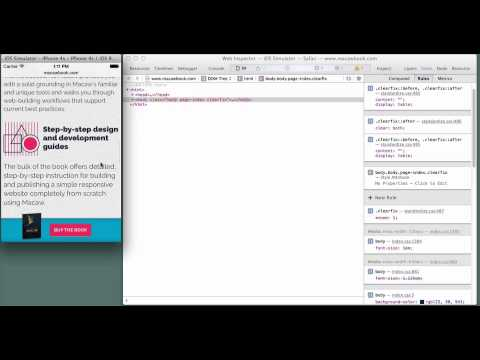 iOS Simulator + Web Inspector + Inspect = Joy