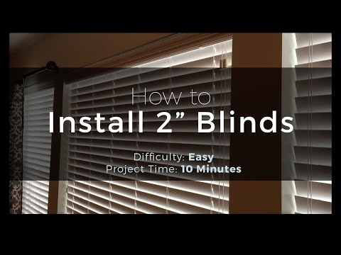 """How to Install 2"""" Blinds - Easy Peasy!"""