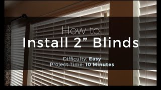 "How to Install 2"" Blinds - Easy Peasy! Mp3"