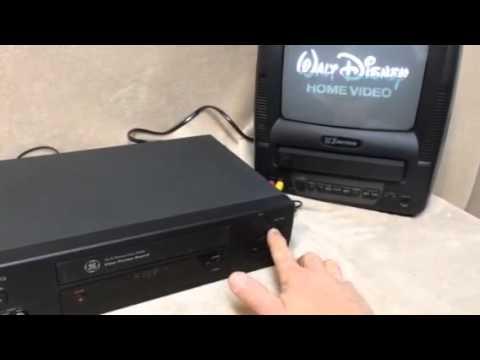 ge vcr vg4269 youtube rh youtube com GE VHS Motors GE Remote Models