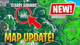 NEW UPDATE MAP CHANGES - STARRY SUBURBS!! (Fortnite Battle Royale)