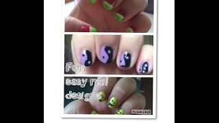 Fun and easy nail designs -watermelon/ying yang /emoji Thumbnail