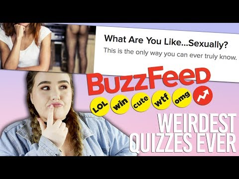 buzzfeed quizzes ARE WEIRD - YouTube