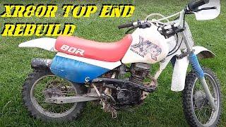 1992 Honda XR80R Top End Rebuild
