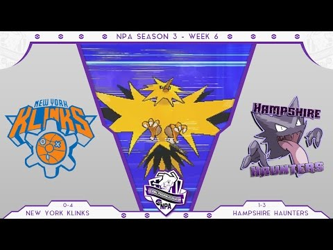 "NPA S3 W6 Vs Hampshire Haunters Pokemon Sun and Moon WiFi Battle - ""Zap Em With DOS!"