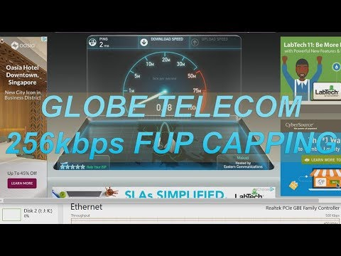 Globe Telecom Philippines Simulated FUP 256kbps Capping
