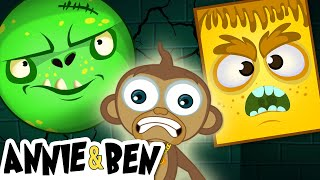 Halloween Funny Puzzle Game for Kids | Learn Colors with SPOOKY MONSTER MASKS | Educational Cartoon