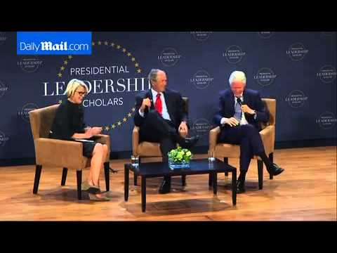 George Bush and Bill Clinton swap grand...