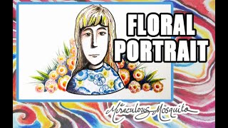Create a Floral Portrait Using Hand Carved Stamps