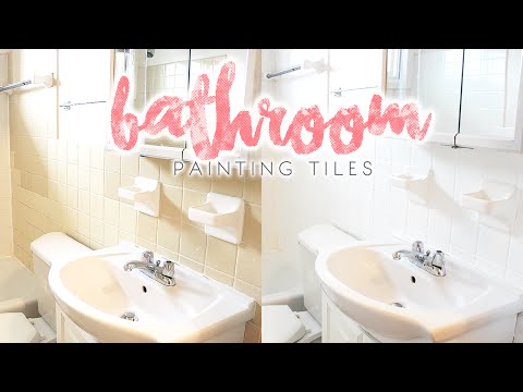 Bathroom Makeover | How to Paint Bathroom Tiles