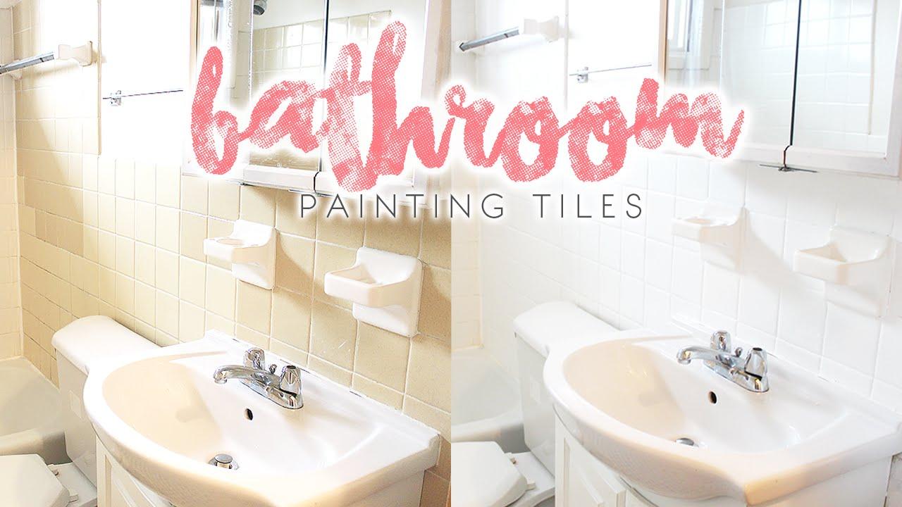 bathroom makeover how to paint bathroom tiles