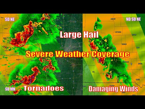 Severe Weather Live Coverage - Northern/Central Plains - The Severe Weather Channel - July 10, 2020