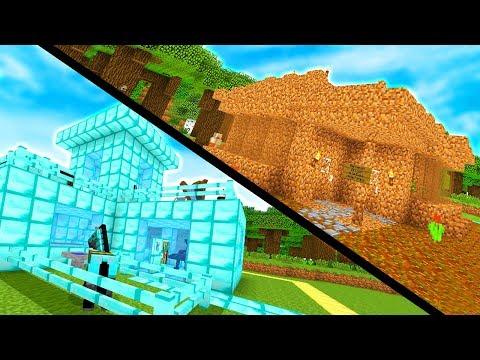 CASA DI DIAMANTE CONTRO CASA DI TERRA - Case Pazze su Minecraft