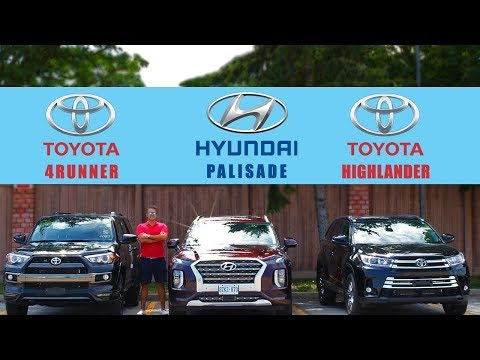 2020-hyundai-palisade-ultimate-vs-toyota-highlander-limited-vs-toyota-4runner-limited