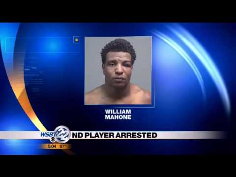 ND Football Player Arrested