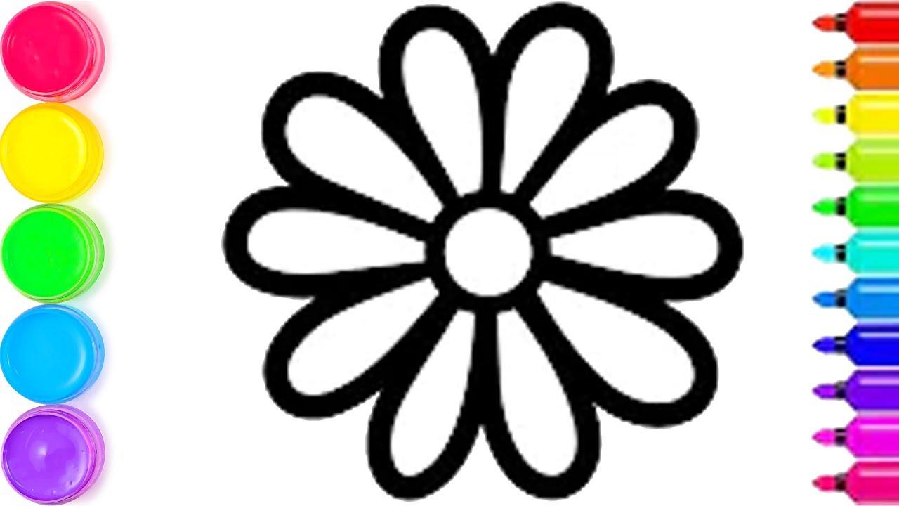 Pelajari Menggambar Dan Mewarnai Bunga Pelangi Untuk Anak Anak
