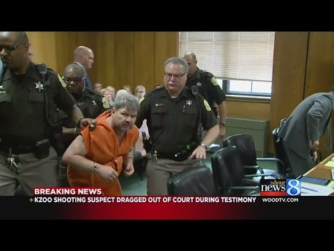 Kzoo Shooting Suspect Dragged Out Of Court During Testimony