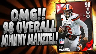 OMG! THE GOAT!!! | JOHNNY MANZIEL! 98 OVERALL! | MUT 16 PACK OPENING
