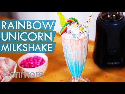 Rainbow Unicorn Milkshake Recipe Fun Summer Drink Ideas Kenmore