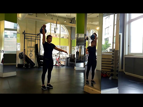 Kettlebell class with Coach Lucy, PhD. at Kalev Fitness Solution, Vancouver, BC.