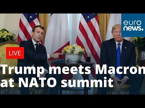 Donald Trump meets Emmanuel Macron at NATO summit to give press conference   LIVE