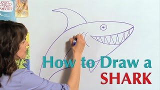 How to draw a Shark - Great Artist Mom - Guided Drawing