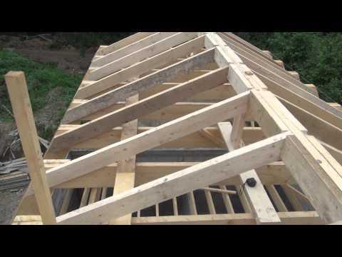 Крыша Мансарда делаем стропила