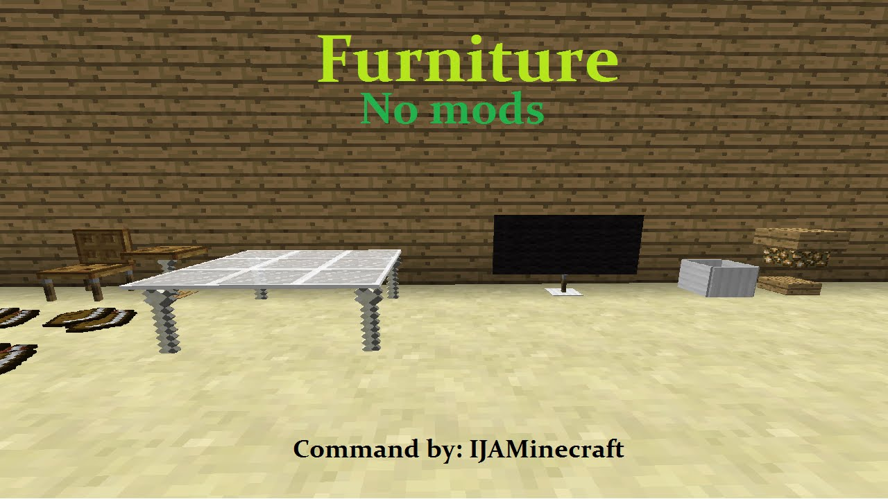 Furniture in MineCraft! | NO MODS | ONLY ONE COMMAND BLOCK