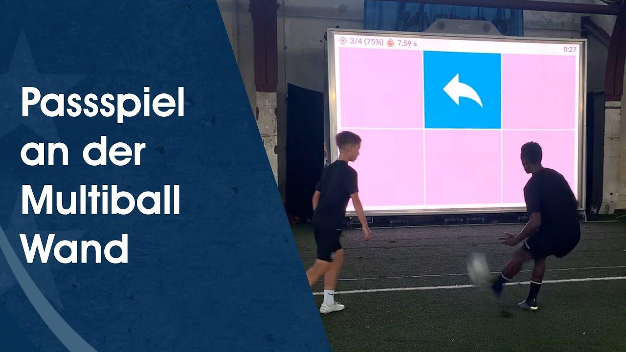 Innovatives Fußballtraining mit der Multiball Wall am Deutschen Fußball Internat