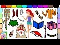 Play Dress Up With Disney Princess Ariel | Ariel is a Christmas Elf | Learn Colors | Learn Clothing