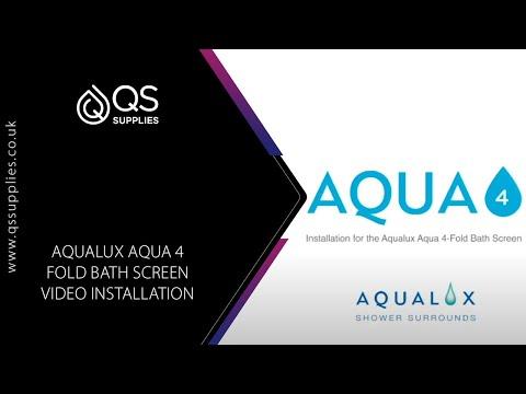 Aqualux Aqua 4 Fold Bath Screen Video Installation Guide   YouTube
