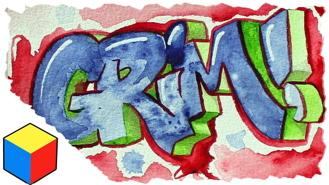Graffiti Speed Painting   Straight Letter Water Color   YouTube