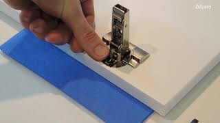 Installing Angle Restriction Clips for CLIP top BLUMOTION 110° Hinges