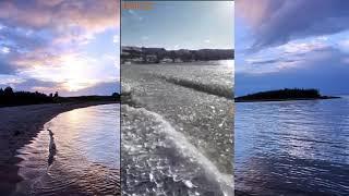 Озеро Иссык-Куль замерзает