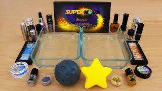 moon vs stars mixing makeup eyeshadow into slime special series 113 satisfying slime video