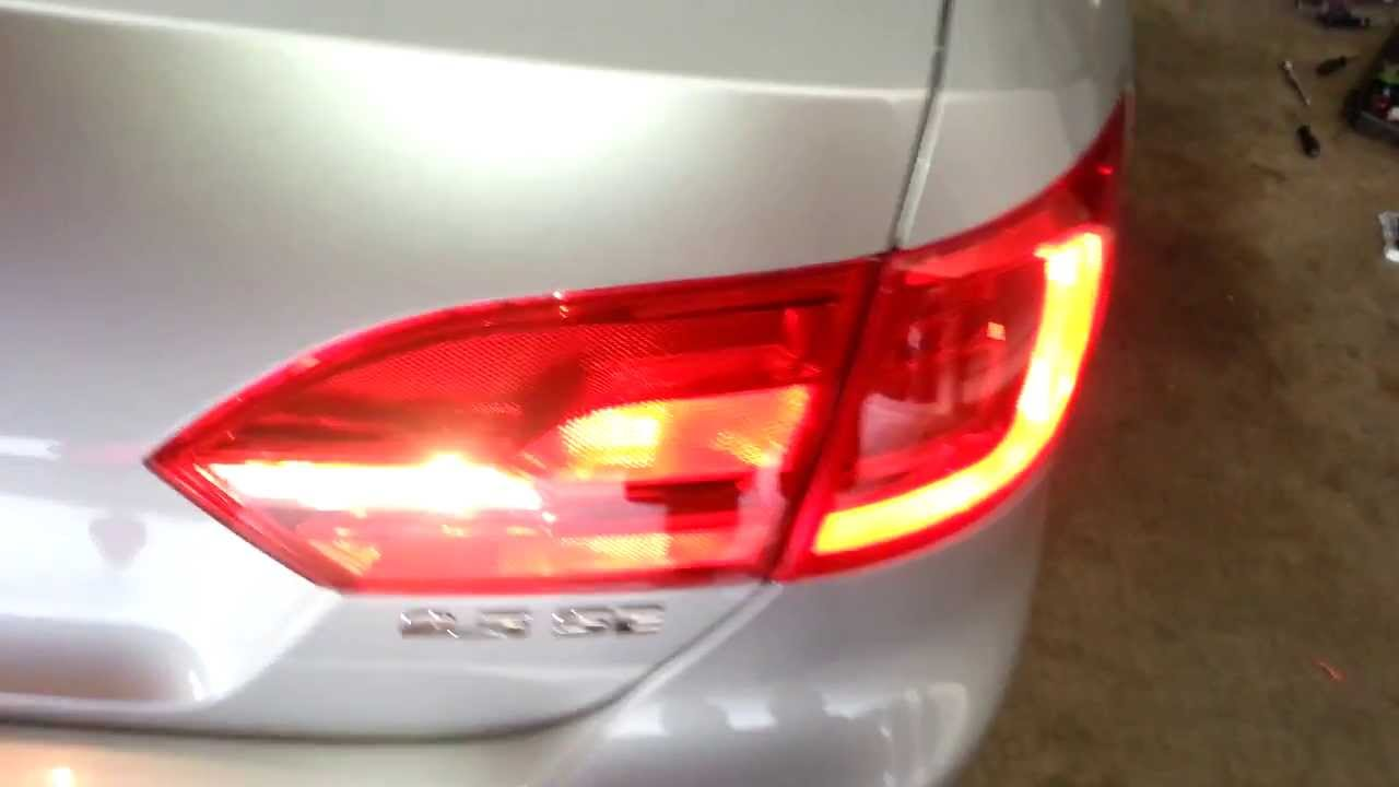 2017 Vw Jetta Sedan Testing New Tail Light Bulbs Brake Turn Signal Reverse Parking