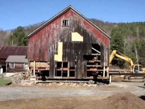 Moving the Barn at Riverledge Farm - YouTube
