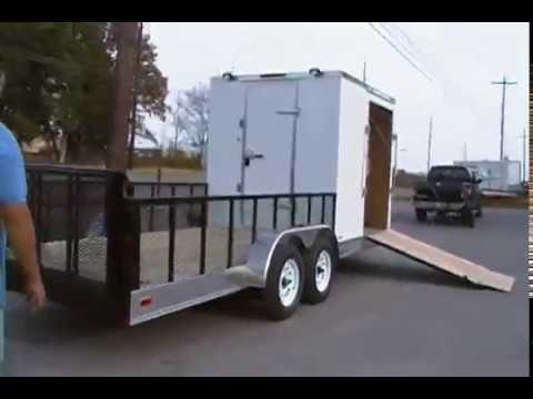 7'x20' Enclosed / Utility Motorcycle Lawn Mower Cargo Trailer
