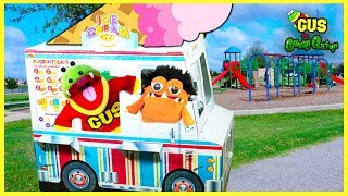 Pretend Play Food Truck Ice Cream and Cooking in Kitchen Playhouse