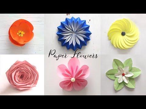 Best of Last Summer 6 Easy Paper Flowers | DIY Craft Ideas