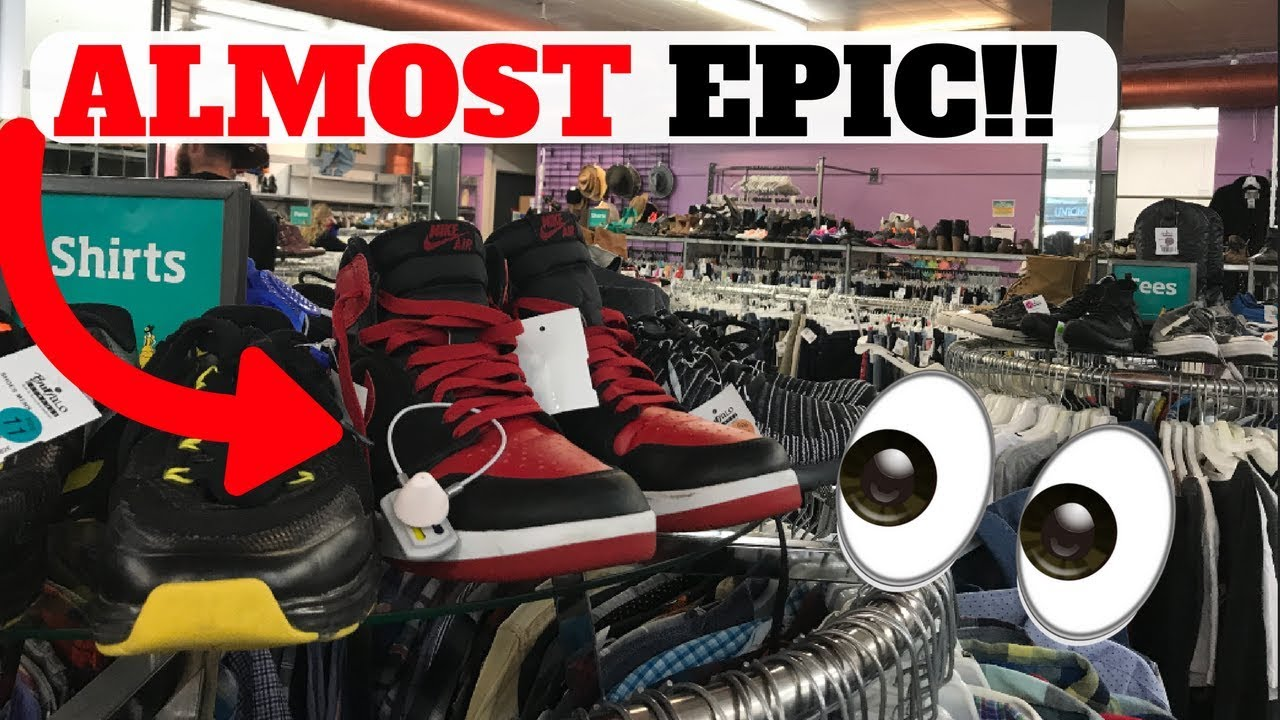 ALMOST EPIC THRIFT STORE SNEAKER HUNTING!! + ADIDAS EMPLOYEE STORE!