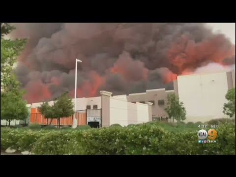 3-Alarm Fire Erupts At Amazon Distribution Center In Redlands