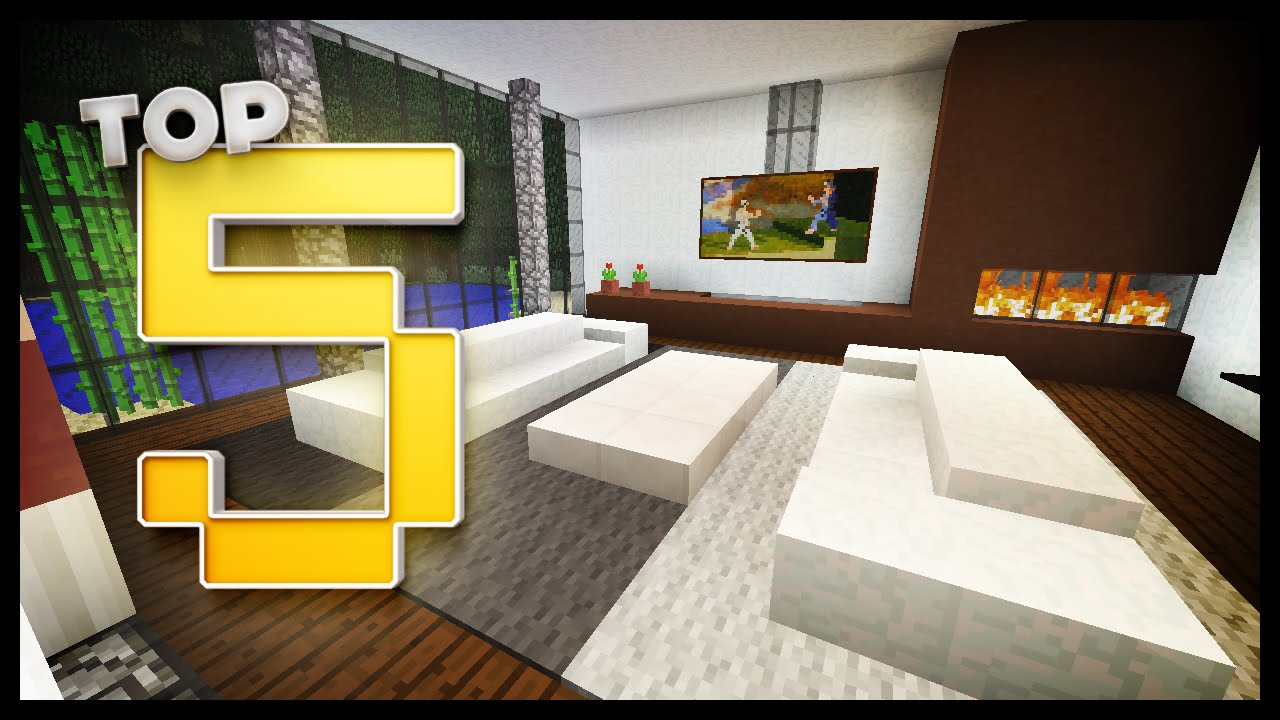 Modern Living Room Minecraft minecraft - living room designs & ideas - youtube