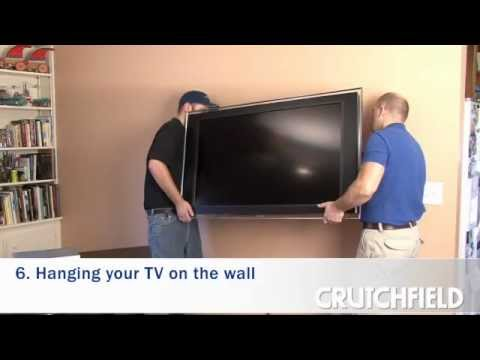 How to Wall-Mount an LCD or Plasma TV | Crutchfield Video ...
