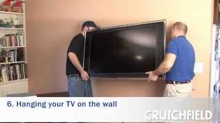 How to Wall-Mount an LCD or Plasma TV | Crutchfield Video