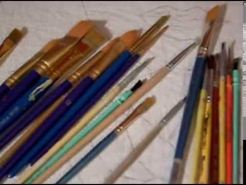 Breve explicaci n de pinceles para pintura en tela youtube - Donde comprar pintura para tela ...